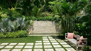 wonderful landscape simple garden ideas with natural stone hedges