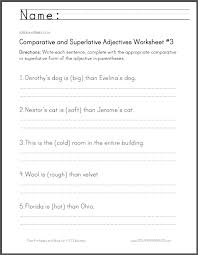 comparative and superlative adjectives worksheet 3 student handouts