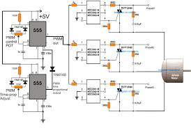 3 phase induction motor speed controller circuit using time