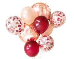 30th birthday balloon delivery burgundy gold and blush pink balloons balloon bouquet