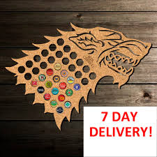 beer cap map game of thrones winter is coming gift christmas