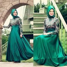 muslim engagement dresses green muslim evening dresses modest sleeve appliques women