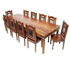 rustic solid wood dining table wooden chair set large rustic solid wood dining table chair set for
