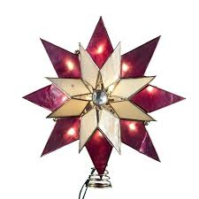 lighted tree topper kurt adler tree topper 8 point with gem accent lighted