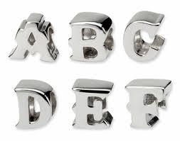 sterling silver european bead bracelet images Sterling silver block letter beads for european style bracelets