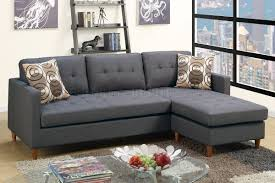 Reversible Sectional Sofa by Reversible Sectional Sofa In Blue Grey Fabric By Boss