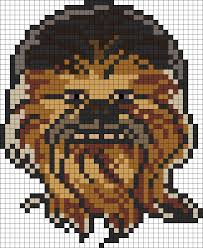 star wars chewbacca perler bead pattern quilting pinterest