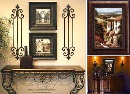 home interior framed tuscan style wall decor 2 set of black framed vintage picture and