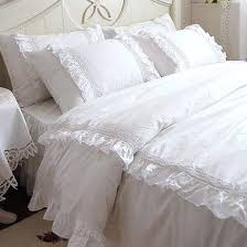 shabby chic duvet covers waterfall ruffle duvet cover from urban