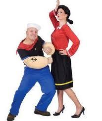 Popeye Olive Halloween Costume Scaring Crowd U2013 Halloween Costumes Groups Couples