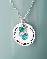 birthstone mothers necklace sterling silver birthstone necklace custom