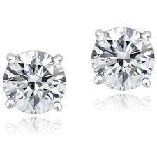 earing studs icz stonez platinum plated sterling silver 2ct tgw 100 facets