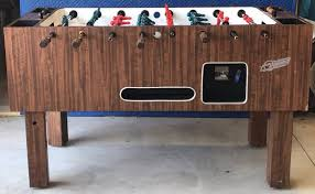 vintage foosball table for sale classic vintage dynamo coin operated foosball soccer table single