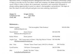 Audition Resume Sample by An Example For Dance Audition Resume Reentrycorps