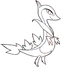 pokemon coloring pages of snivy snivy drawing at getdrawings com free for personal use snivy