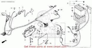 honda trx200sx fourtrax 200sx 1986 g usa wire harness