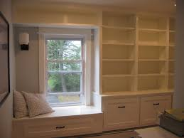winsome bay window seat plan design for bedroom built in cabinet