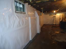 Basement Wall Waterproofing by Cleanspace Wall Vapor Barrier And Waterguard Perimeter Drainage