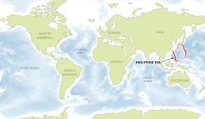 australia world map location philippine sea map by freeworldmaps net