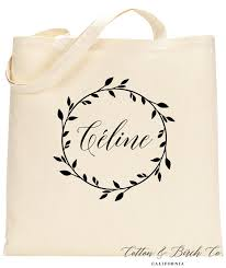 bridal party tote bags personalized tote bag personalized wedding wreath tote bag