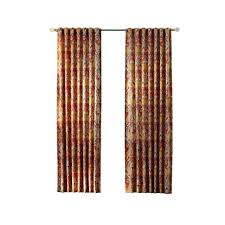 multi paisley back tab curtain 1624019 the home depot