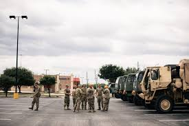 harvey in pictures the new york times members of the national guard were briefed before heading into the heart of flooding in orange tex credit alyssa schukar for the new york times