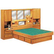 Water Bed Frames Wall Set Wood Frame Waterbed