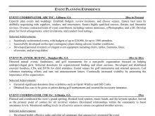 Resume Event Planning 100 Resume Event Planning Event Proposals Event Proposal