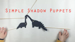 make dinosaur shadow puppets simple craft activity for kids