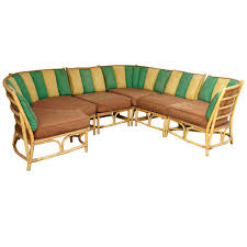 Curved Outdoor Sofa by Sectional Bamboo Sofa By Ficks Reed At 1stdibs