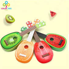 musical fruit shape guitar learning practicing