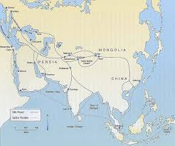 map of the road maps atlas silk road trade routes map