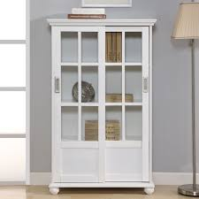 Walmart Bookcases Bookshelf Astounding Bookcase With Doors White Solid Wood