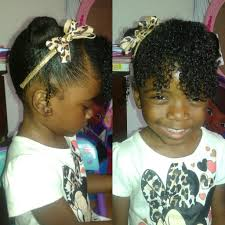 natural hair bun styles with bang two mini buns with curly bang natural hair style for kids youtube