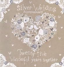 silver wedding anniversary card karenza paperie