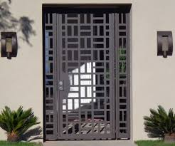 contemporary metal gate panels steel wrought iron custom designer