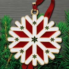 2016 wallace snowflake 7th edition goldplate u0026 enamel ornament