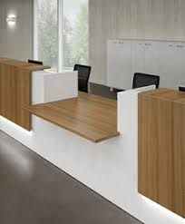 Contemporary Office Desk by Rhythms Of Papagyi Office Reception Design Design 7 Theater