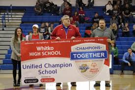 high school senior sports banners whitko recognized as unified chion school