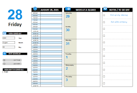 Daily Planner Template Excel Daily Planner Template