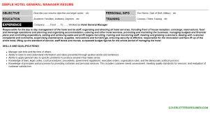 hotel general manager cover letter u0026 resume