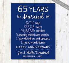 65th wedding anniversary gifts 65th wedding anniversary gift for parents 65 years wedding