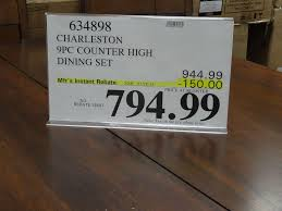 costco furniture dining room charleston 9 piece counter height dining set u2013 discount alert
