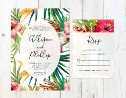 tropical wedding invitations tropical flowers wedding invitation destination wedding