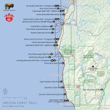 map of oregon state parks navigating the oregon coast trail outdoor project