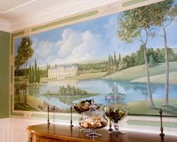 French Pastoral Mural Traditional Dining Room New York By - Dining room mural