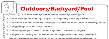 Backyard Pool Safety by Backyard And Pool Household Safety Checklist