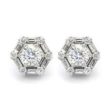 what size diamond earrings best 25 diamond stud earrings ideas on ear rings