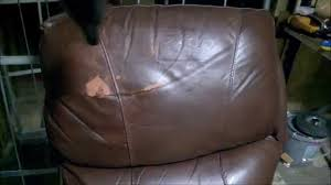 Leather Sofa Refinishing How To Repair A Peeling Leather Couch Steep By Steep Youtube
