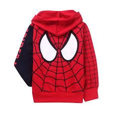 retail children u0027s coat boys spiderman embroidered hoodie jackets